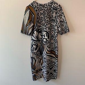 Gabby Skye leopard and butterfly dress sz 12